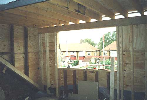 Insulation placed and stairs erected into position