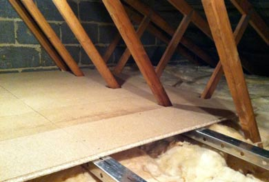 Loft boarded out using the LoftZone system