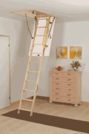 Use a loft ladder to get in and out of the loft