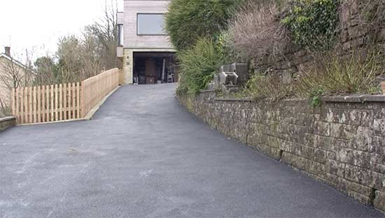 Newly resurfaced driveway job completed