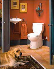 B98505 SANICHASSE system is built-in to the toilet itself