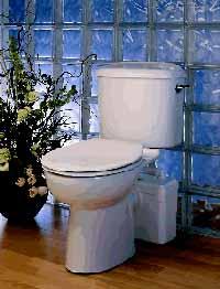 B98500 - SANIFLO Small Bore Sanitary Sysyem positioned behind toilet