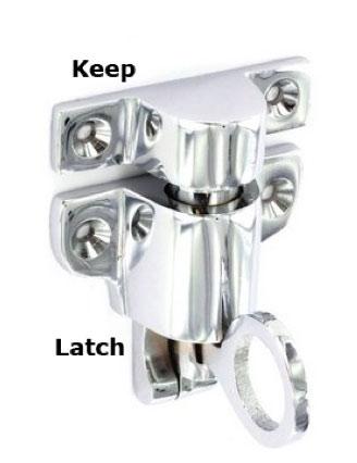 Chrome Fanlight Catch