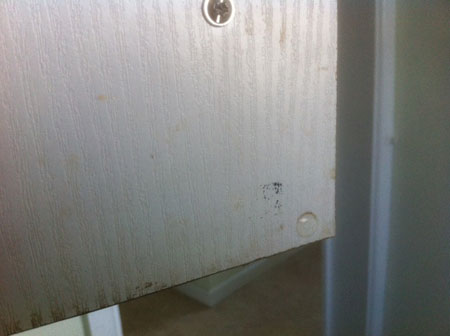 Pen mark on door