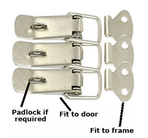 Toggle latches for cabinets
