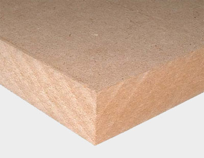 Closeup of mdf fibres
