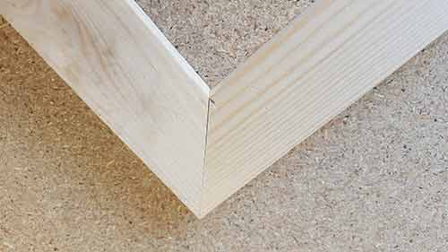 Perfectly formed mitre joint