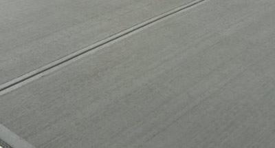 Freshly laid concrete pad