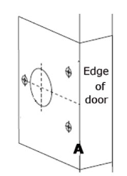Template for fitting a night latch