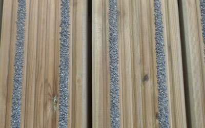 Non-slip decking strips