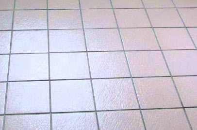 Non-slip floor tiles in bathroom