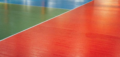 Non-slip resin flooring