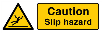 Slip hazard warning sign