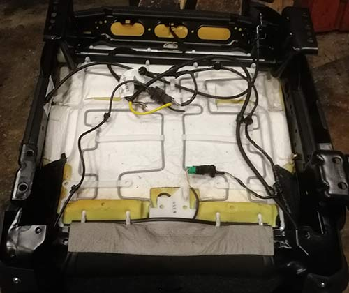 Removing all unnecessary parts form the car seat