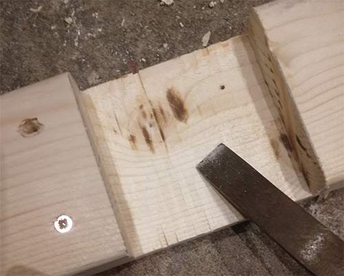 Tidying up halving joints