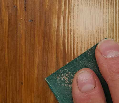 Sanding wood stain to remove colouring