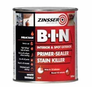 Zinsser BIN primer and sealer stain killer