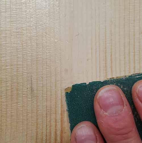Sanding over varnish coating