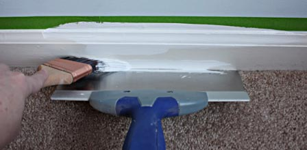 How not to paint your skirting boards