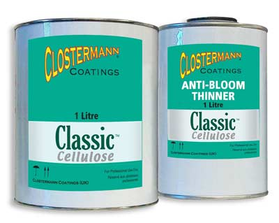 Classic cellulose car paint and paint thinners