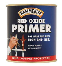 Red oxide primer for priming metal