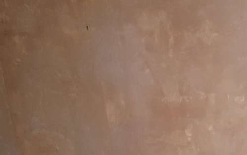 New plaster laid on a wall