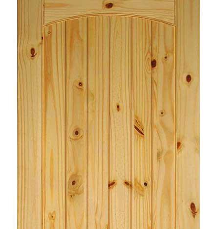 Knots in pine panel door