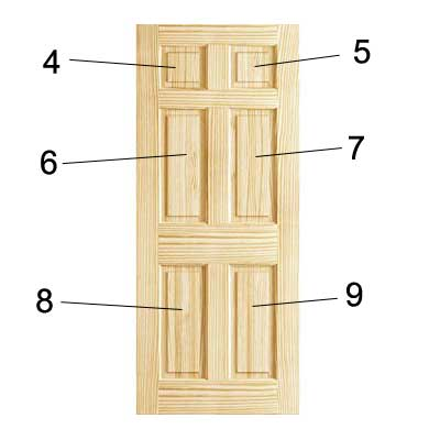 Paint panels of panelled door