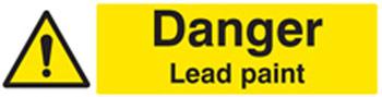 Lead paint warning