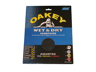 General purpose wet and dry sandpaper set