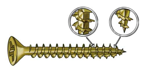 A Serrated Screw Thread
