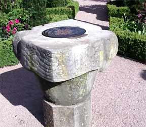 Large, stone ornamental bird bath or fountain