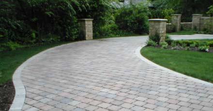 Porous paved driveway