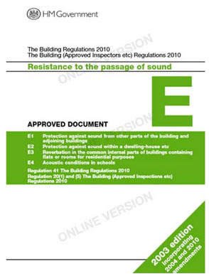 Building Regulations approved document booklets