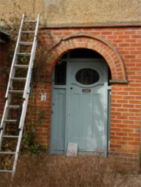 Brick archway to permitted development porch