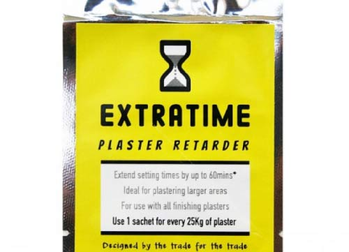 Extratime plaster retarder can slow the speed that fresh plaster cures