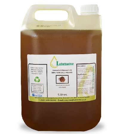 Linseed oil that is now used in place of animal fat