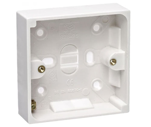 Single gang plastic back box