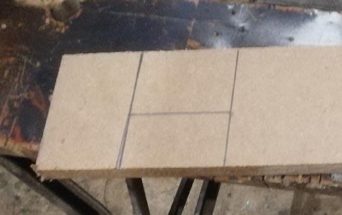 Castor wheel recess marked on side of plinth drawer