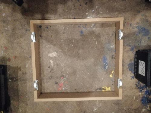 Plinth drawer framework complete