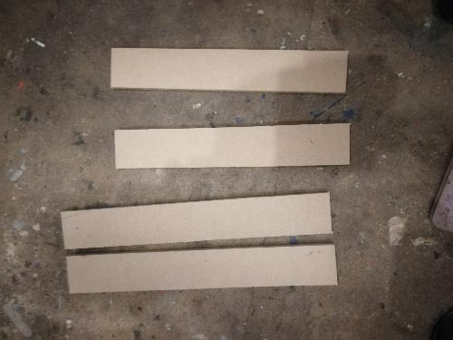 Plinth drawer sections all cut out and ready for fixing