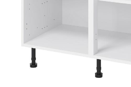 Limited width bewteen kitchen unit legs