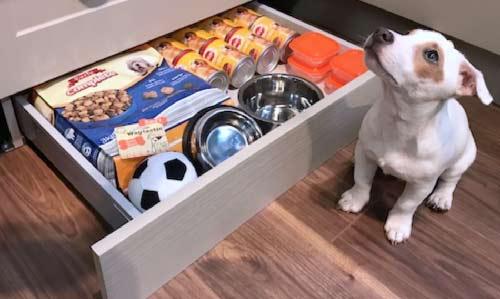 Made to measure kitchen plinth drawer