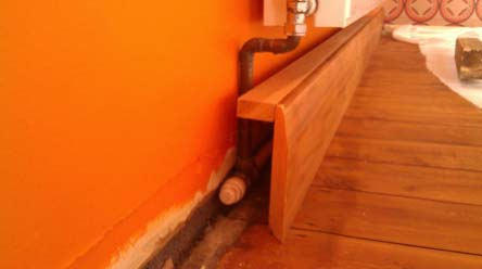 DIY heated skirting board