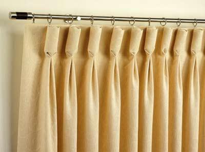 Goblet style curtain heading