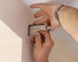 Screw pole bracket to the wall