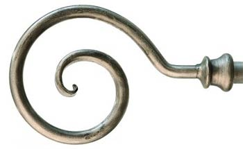 Wrought iron curtain pole finial