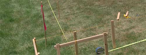 Concreting Fence Posts and Keeping Them Level and Inline