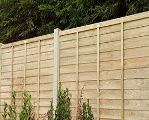 Fence constructed using 4x4 posts and 6 foot fence panels