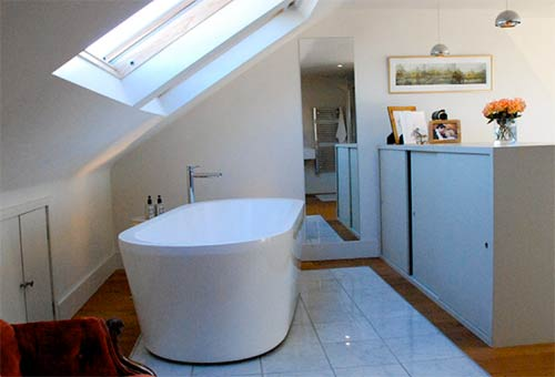 Loft conversion for a bathroom